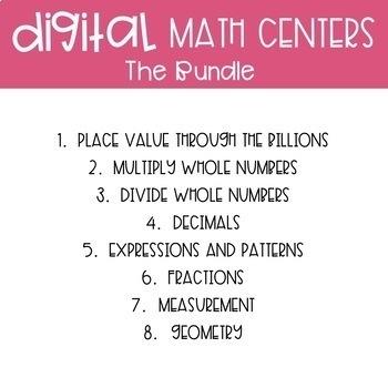 Fifth Grade Math Centers Bundle ~ Digital for Google Classroom