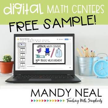 Fifth Grade Math Centers ~ Digital Edition - FREE