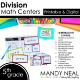 Fifth Grade Digital Math Centers Division   Distance Learning