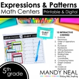 Fifth Grade Digital Math Centers Expressions & Patterns |
