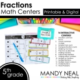 Fifth Grade Digital Math Centers Fractions   Distance Learning
