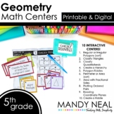 Fifth Grade Math Centers Geometry ~ Digital for Google Classroom