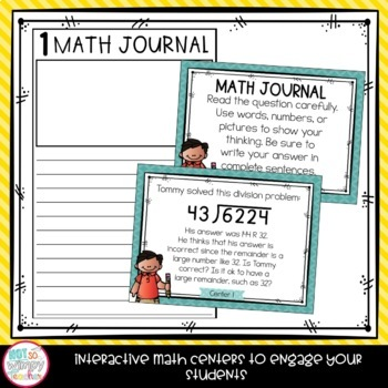 Fifth Grade Math Centers Growing Bundle