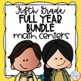 Fifth Grade Math Centers Bundle