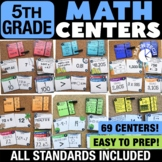 5th Grade Math Centers Growing Bundle - Math Games for Gui