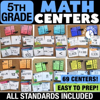 Fifth Grade Math Centers Bundle - Math Games for Guided Math