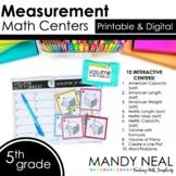 Fifth Grade Digital Math Centers Measurement | Distance Learning