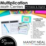 Fifth Grade Digital Math Centers Multiplication | Distance