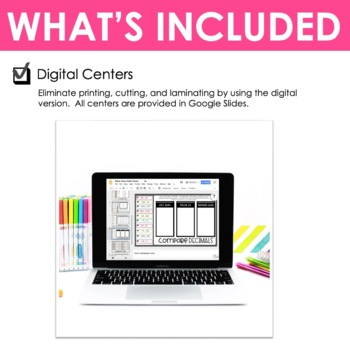Fifth Grade Math Centers Place Value ~ Digital for Google Classroom