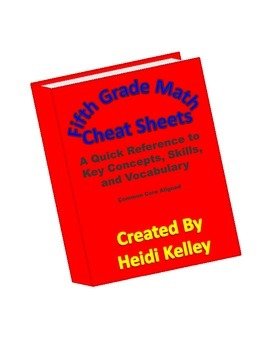 Fifth Grade Math Cheat Sheets: Key Concepts, Skills, and Vocabulary