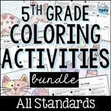 Fifth Grade Math Coloring Activities Bundle