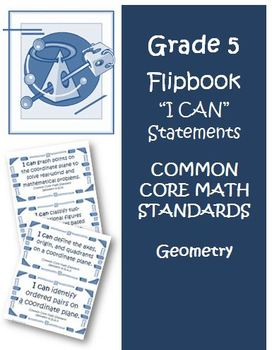 Fifth Grade Math Common Core Geometry I Can Cards