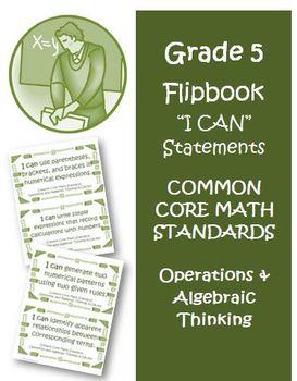 Fifth Grade Math Common Core Operations Algebraic Thinking