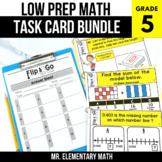 5th Grade Math Task Cards BUNDLE