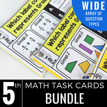 5th Grade Math Task Cards BUNDLE