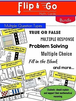 5th Grade Math Task Cards BUNDLE   Varied Question Types