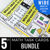 5th Grade Math Task Cards BUNDLE | Varied Question Types