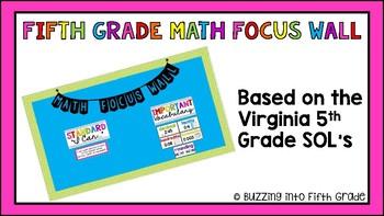 Fifth Grade Math Focus Wall