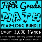 Fifth Grade Math Full Curriculum, CCSS Aligned Materials f