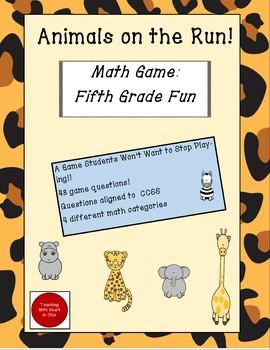 Fifth Grade Math Game Fun:  Animals on the Run!