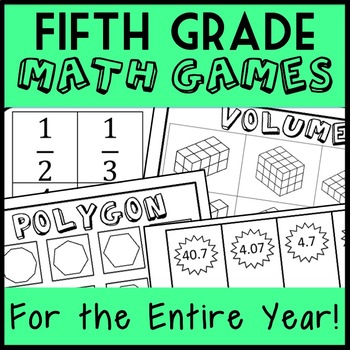 Fifth Grade Math Games for the ENTIRE YEAR!  Math Centers, Montessori, Groups