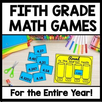 Fifth Grade Math Games for the ENTIRE YEAR!  Math Center + Montessori Bundle