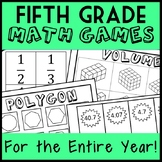 Fifth Grade Math Games for the ENTIRE YEAR!  Math Center + Montessori Bundle