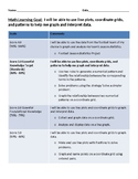 Fifth Grade Math Goal and Scale for Student Self-Tracking: Data and Patterns