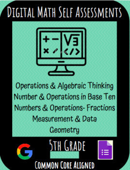 Fifth Grade Math Google Form Learning Targets Self Assessments