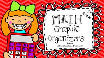 Fifth Grade Math Graphic Organizers Bundle: All Common Core Standards