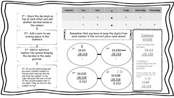 Fifth Grade Math Graphic Organizers: NBT {copy for student notes}