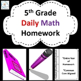 5th Grade Math Homework - 5th Grade Daily Math Review - 5t