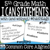 Fifth Grade Math I Can Statements Common Core Standards