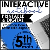 Fifth Grade Math Interactive Notebook Year Long Bundle
