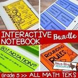Fifth Grade Math Interactive Notebook Bundle- All TEKS Standards