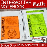 Fifth Grade Math Interactive Notebook: Data Analysis (TEKS)