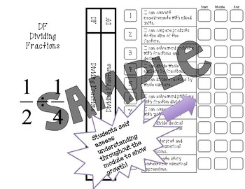 Fifth Grade Math Interactive Notebook Divider Pages