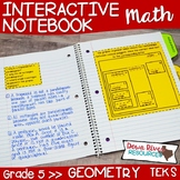 Fifth Grade Math Interactive Notebook: Geometry Hierarchy (TEKS)