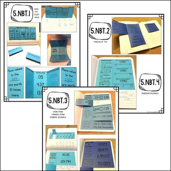 Fifth Grade Math Interactive Notebook: All Common Core Standards