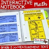 Fifth Grade Math Interactive Notebook: Measurement Conversions (TEKS)