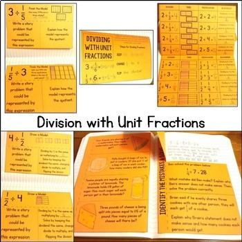 Fifth Grade Math Interactive Notebook: Numbers & Operations- Fractions Bundle