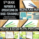 Fifth Grade Math Interactive Notebook: Numbers and Operations in Base-Ten Bundle