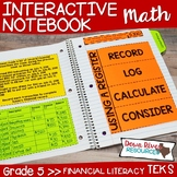 Fifth Grade Math Interactive Notebook: Personal Financial Literacy (TEKS)