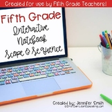 FREEBIE Fifth Grade Math Interactive Notebook Scope and Sequence