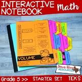 Fifth Grade Math Interactive Notebook: Starter Set + Divider Tabs Bundle (TEKS)