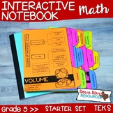 Fifth Grade Math Interactive Notebook: Starter Set + Divid
