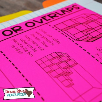 Fifth Grade Math Interactive Notebook: Volume of Rectangular Prisms (TEKS)