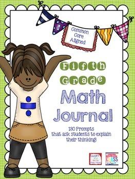Fifth Grade Math Journal Prompts (5 prompts per CCSS Standard)