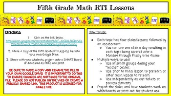 Fifth Grade Math Lessons for the whole school year!