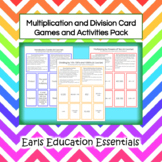 Fifth Grade Math: Multiplication and Division Card Games a